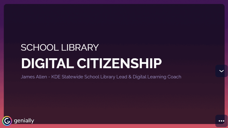 screenshot of presetnation school library digital citizenship