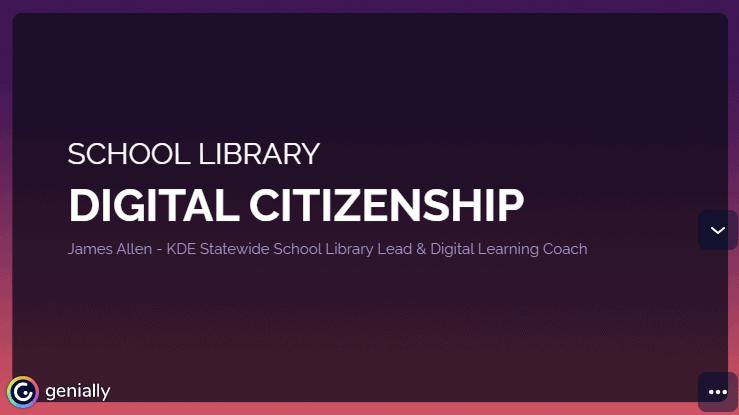 screenshot of presetnation school library digital citizenship